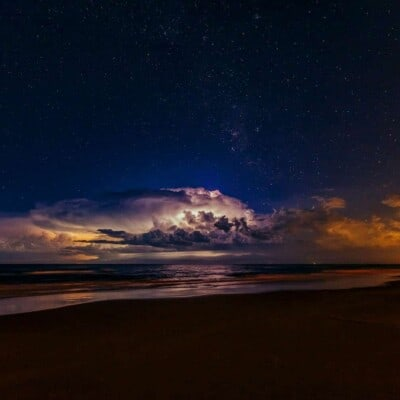 Sunrise Beach Lightning Storm